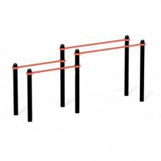 Брусья двойные разновысотные   D76 мм (PAW-09)