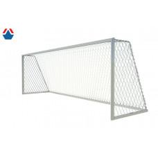 Ворота футбольные алюминиевые 100х120  7,32х2,44х1,9 м дуги из стали