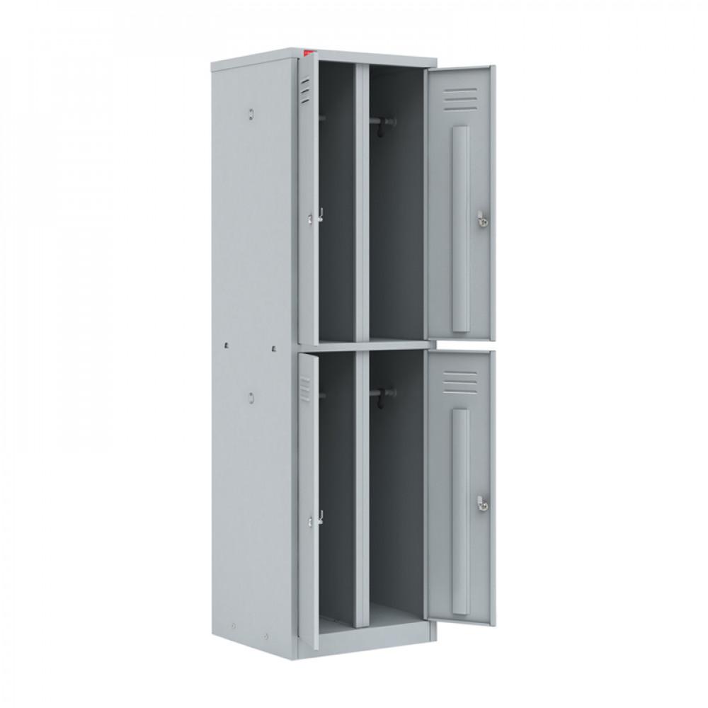 Шкаф разборный металлический двухсекционный с 4-мя отделениями ШРМ-24