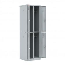 Шкаф разборный металлический двухсекционный с 4-мя отделениями