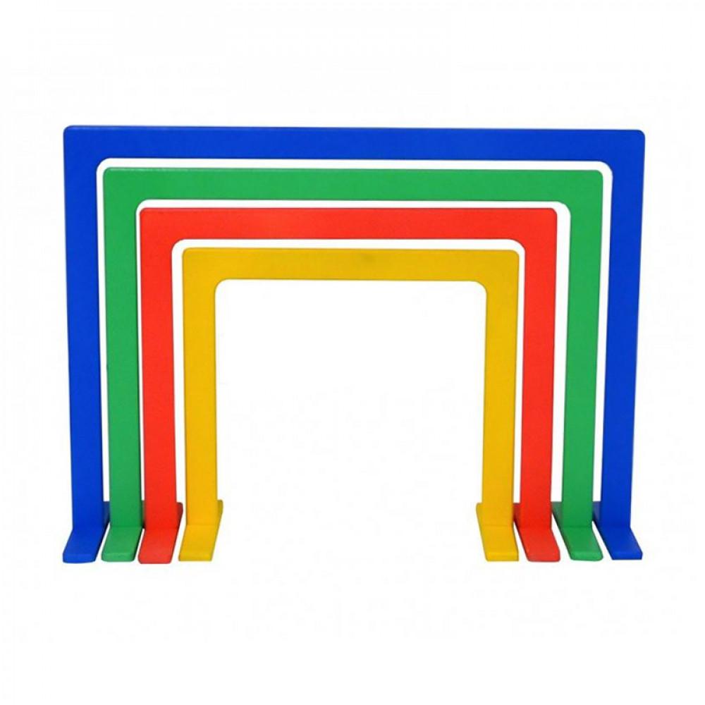 Дуги для подлезания прямоугольные цветные (комплект 4 шт.)
