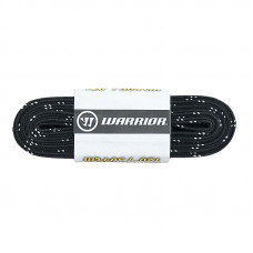 """Шнурки для коньков """"Warrior Laces Wax с восковой пропиткой"""" арт.LAW-BK-096, полиэстер, 244см, черный"""