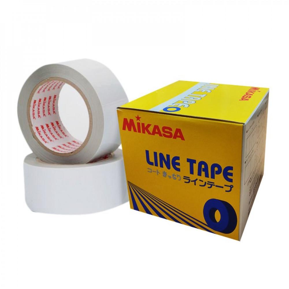 "Лента для разметки площадок в залах ""MIKASA PP-500-W"", полипропилен, шир. 5 см, 2 рулона по 50 м,бел"