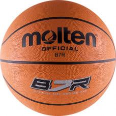 "Мяч баск. ""MOLTEN B7R"" р.7, 8 панелей, резина, бут.кам, нейл.корд, оранж-чер"