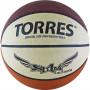"""Мяч баск. """"TORRES Slam"""" арт.B00065, р.5, резина, нейлон. корд, бут. кам, бежево-бордово-оранж"""