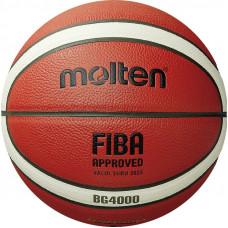 "Мяч баск. ""MOLTEN B6G4000"" р. 6, FIBA Appr, 12 пан, композит.кожа (ПУ),бут.кам,нейл.корд,кор-беж-че"