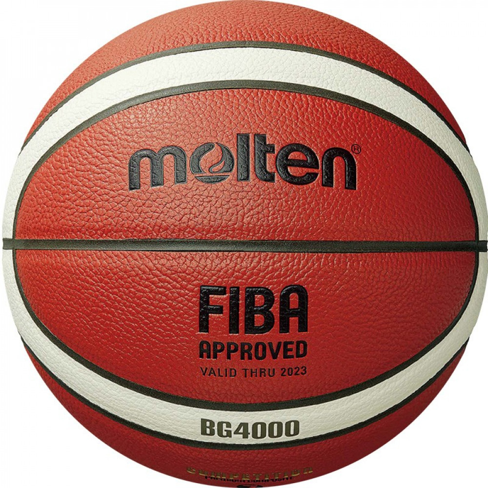 "Мяч баск. ""MOLTEN B7G4000"" р.7, FIBA Appr, 12 пан, композит. кожа (ПУ),бут.кам,нейл.корд,кор-беж-чер"