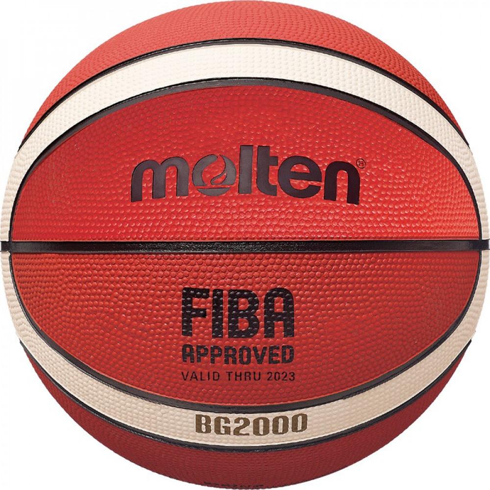 "Мяч баск. ""MOLTEN B6G2000"" р.6, FIBA Appr Level III, 12панелей, резина, бут.кам,нейл.корд,ор-беж-чер"