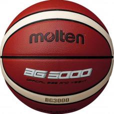 "Мяч баск. ""MOLTEN B6G3000"" р. 6, 12 панелей, синт.кожа (ПВХ),бут.кам,нейл.корд,кор-беж-чер"