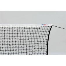 """Сетка теннисн. """"KV.REZAC"""" арт.21055863,нить 3 мм ПП,яч.45 мм,ЧЕРН,стал.трос в ПВХ об,верх.лен.из ПЭ"""