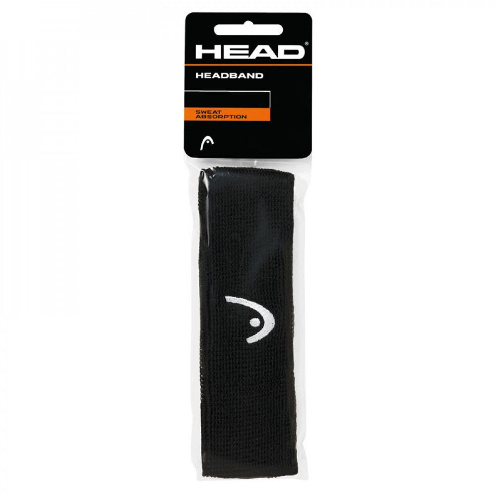 "Повязка на голову  HEAD 2"" (ЧЕРНАЯ) арт.285080-BK, шир. 5 см, хлопок, нейлон, эластан, черный"