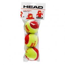 Мяч теннисный HEAD T.I.P Red, арт.578113, уп.3 шт, фетр, нат.резина, желто-красный