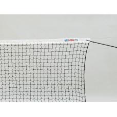 """Сетка теннисн. """"KV.REZAC"""" любит., арт.21015340, нить 2мм ПА, яч. 45 мм, стал. трос, верх. лента ПЭ"""