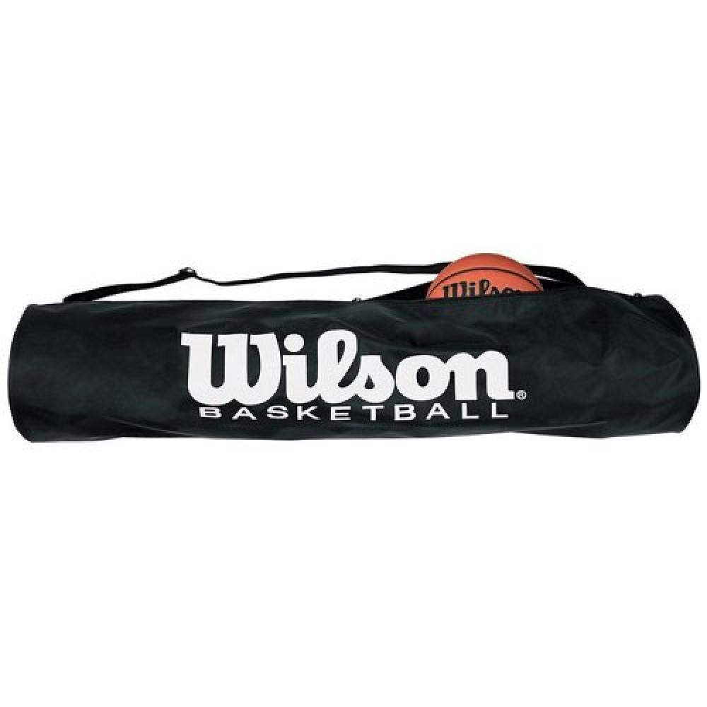 Сумка на 5 мячей Wilson Tube Bag, арт.WTB1810, на 5 баскет. мячей,лого Wilson, нейлон,ПЭ,  черный