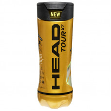 Мяч теннисный HEAD TOUR XT 3B, арт.570823, уп.3 шт, одобр.ITF, сукно,нат.резина, желтый