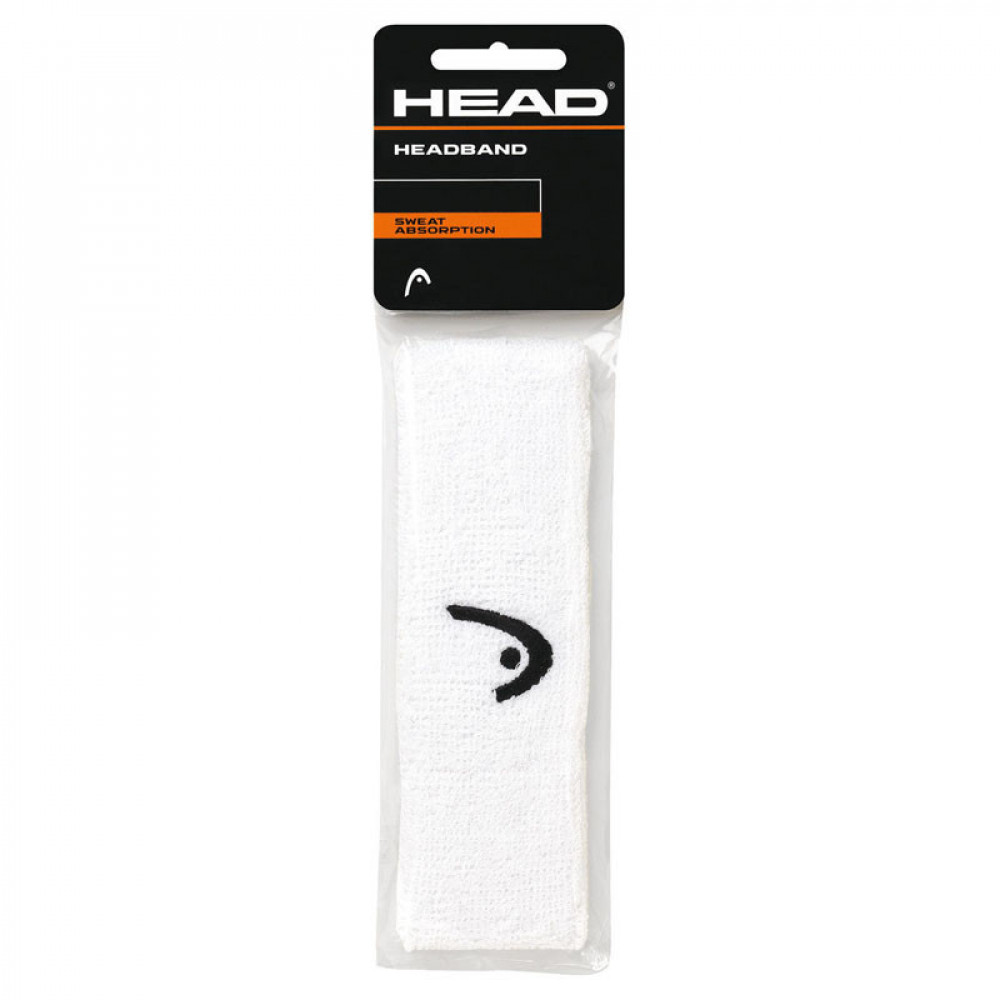 "Повязка на голову  HEAD 2"" (БЕЛАЯ) арт.285080-WH, ширина 5 см, хлопок, нейлон, эластан, белая"