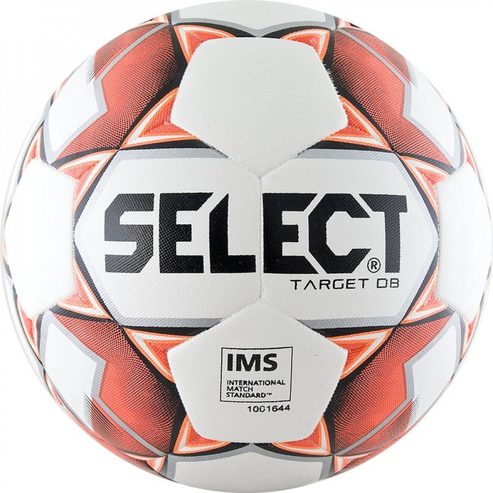 """Мяч футб. """"SELECT Target DB"""" арт. 815217-106, р.4, IMS,32п, ПУ, терм+маш.сш, бело-крас"""
