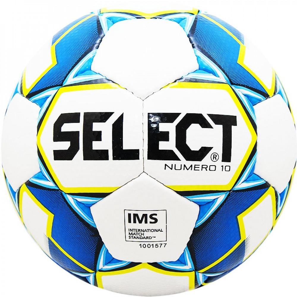 """Мяч футб. """"SELECT Numero 10"""" арт. 810508-020, р.5,  IMS, 32пан, ПУ, руч. сш, бело-син-сал"""