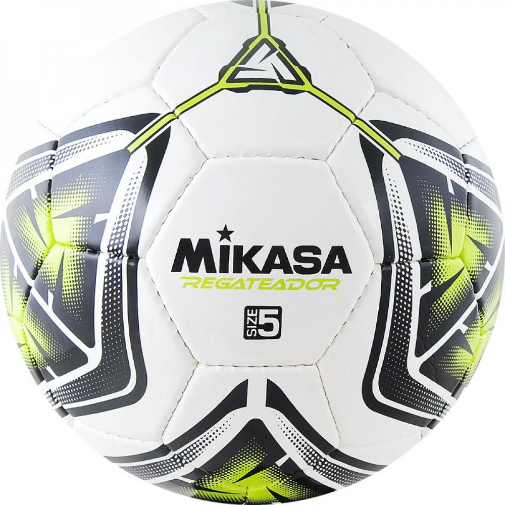 """Мяч футб. """"MIKASA REGATEADOR5-G"""", р.5, 32пан, гл. ПВХ, руч.сш, лат.кам, бело-черн-зеленый"""
