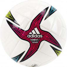 "Мяч футб. ""ADIDAS Conext 21 Training"" арт.GK3491,р.4, 8п, гл.ТПУ, маш.сш, бело-мультикол"