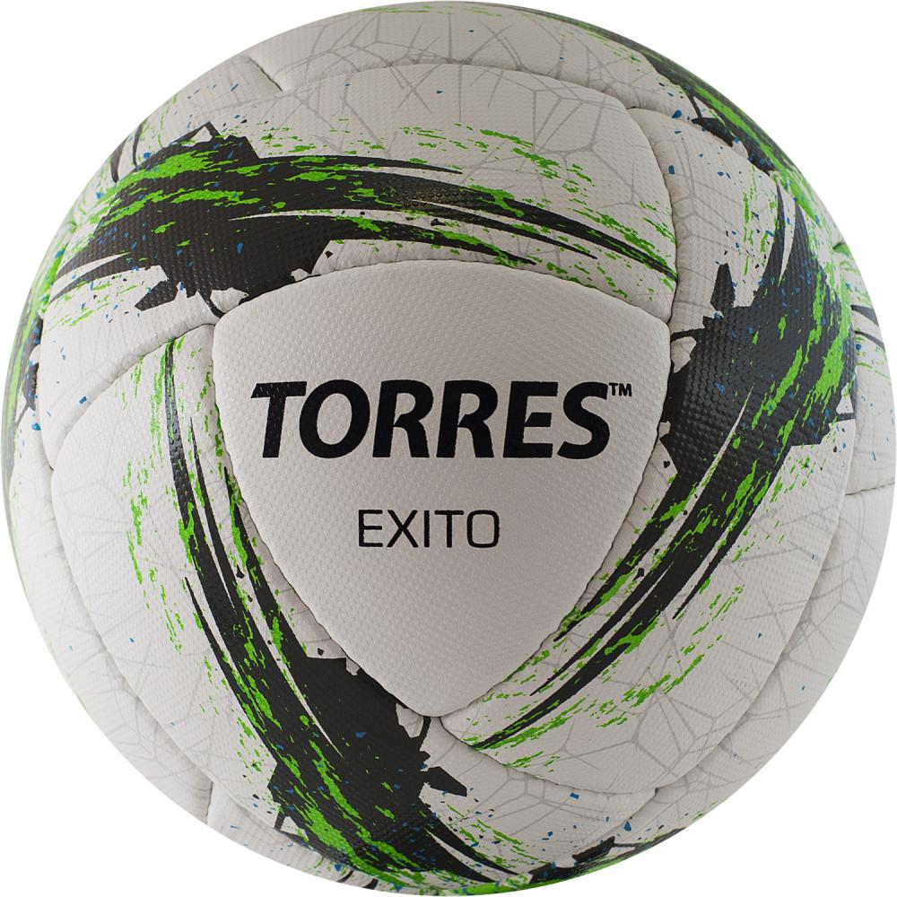 """Мяч футбольный """"TORRES Exito"""" арт.F42095, р.5, 16 панелей. микрофибра, руч. сшивка, белый"""