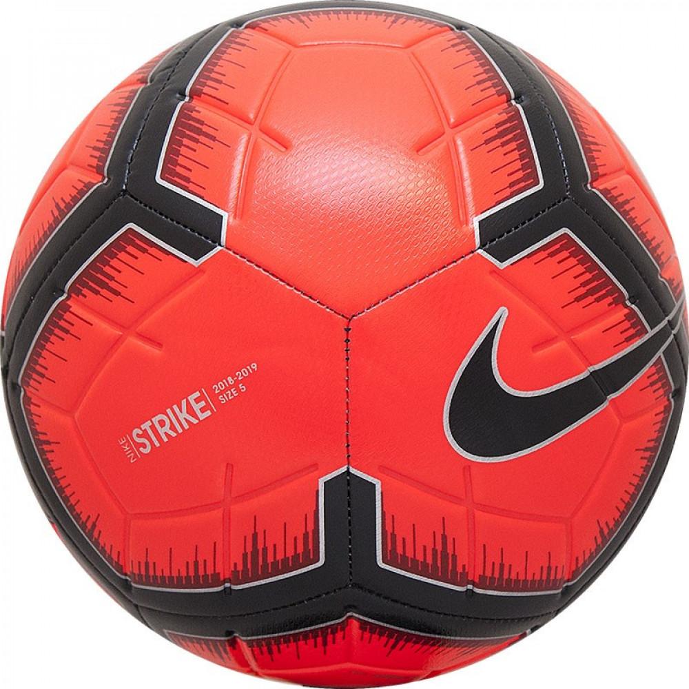 "Мяч футб. ""NIKE Strike"" арт.SC3310-610, р.5, 12 панелей, ТПУ, маш.сш., бут. кам, красно-черно-серебр"