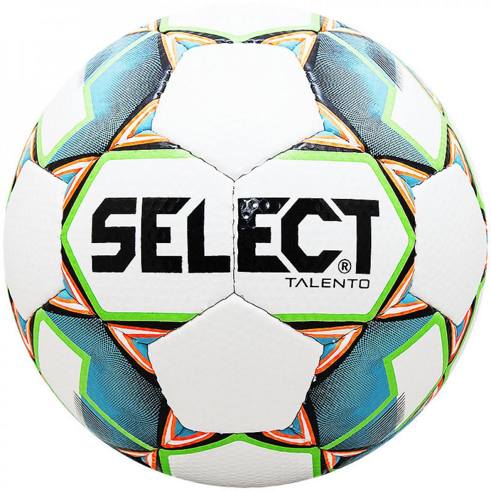 "Мяч футб. ""SELECT Talento""арт.811008-104, р.3,  вес 270-290г, 32п, гл.ПУ, руч.сш, бел-гол-зел"