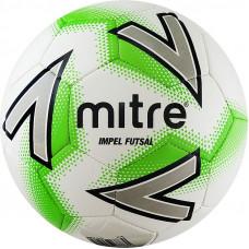 """Мяч футзал. """"MITRE Futsal Impel"""" арт.A0029WC5, р.4,30 пан. ПВХ, руч.сш, бел-зел-сер"""