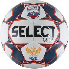 """Мяч футзал. """"SELECT Futsal Replica"""" арт.850618-172, р.4, АМФР, РФС, 32п, ПУ, руч.сш,бел-син-крас"""