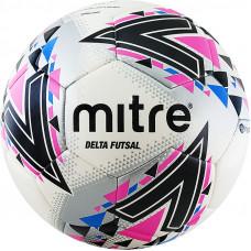 "Мяч футзал. ""MITRE Futsal Delta FIFA PRO HP"" арт.A0028WWB, р.4, 30 пан, ПУ, гибр.сш, бел-роз-сер-чер"