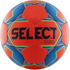 """Мяч футзал. """"SELECT Futsal Street"""" арт.850218-552, р.4, 32п, мат.ПУ, руч.сш, оранжево-сине-черный"""