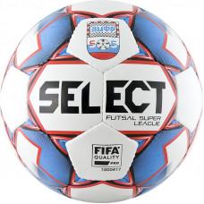 """Мяч футзал. """"SELECT Super League АМФР"""" арт.850718-172,р.4, FIFA PRO, АМФР, 32п, бел-син-кр"""