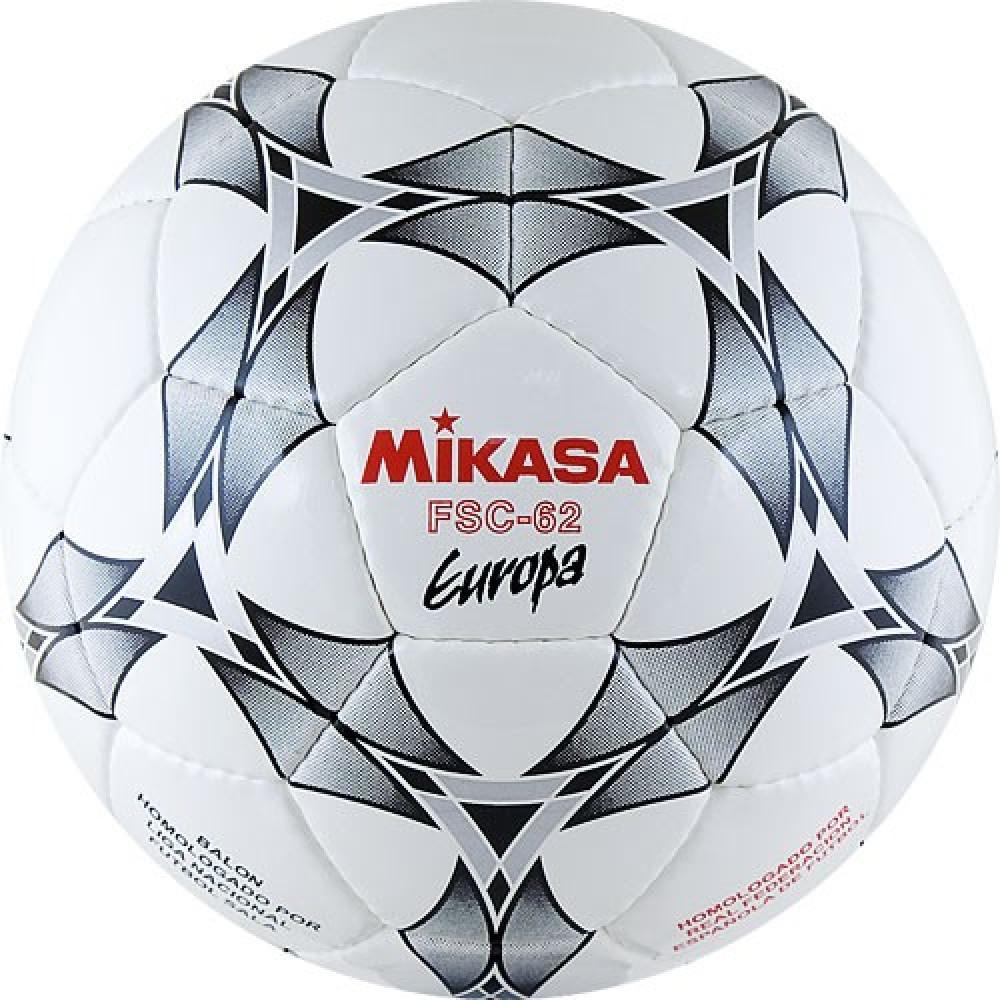 """Мяч футзал. """"MIKASA FSC-62E Europa"""",р.4,гл.ПУ,32 п,бут.к,руч.сш,бел-сер-крас"""