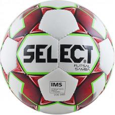 "Мяч футзал. ""SELECT Futsal Samba"" арт. 852618-003, р.4, IMS, 32пан, глянц.ТПУ,руч.сш,бел-красн-зелен"