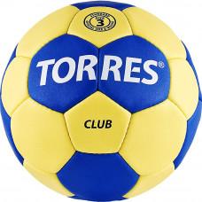 """Мяч ганд. """"TORRES Club"""" арт.H30043, р.3, ПУ, 5 подкл. слоев, сине-желтый"""
