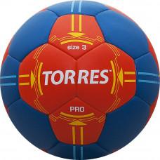 """Мяч ганд. """"TORRES PRO"""" арт.H30063, р.3, ПУ, 4 подкл. слоя, оранжево-синий"""
