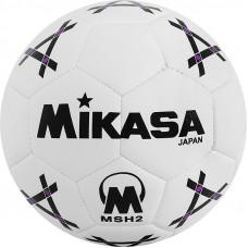 """Мяч гандб. """"MIKASA MSH 2"""", синт.кожа, р. 2, машинная сшивка, бело-черно-фиолет."""