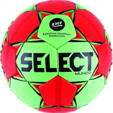 "Мяч ганд. ""SELECT Mundo"" арт. 846211-443, Senior (р.3), EHF Appr., мат.ПУ,руч.сш, зел-красн-черн"