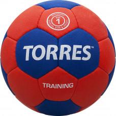 """Мяч ганд. """"TORRES Training"""" арт.H30051, р.1, ПУ, 4 подкл. слоя, красно-синий"""