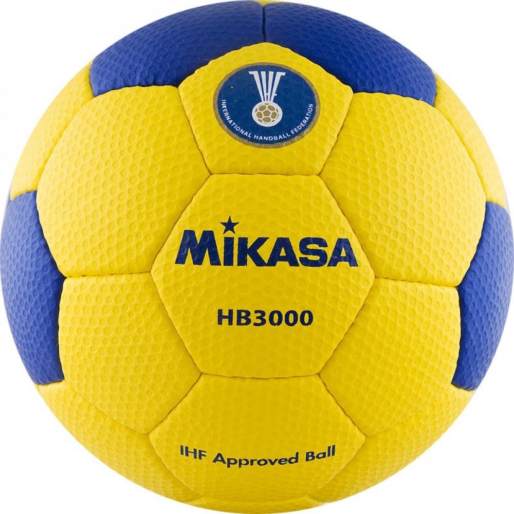 "Мяч гандб. ""MIKASA HB 3000"", синт.кожа, р.3, IHF, руч. сшивка, желто-синий"