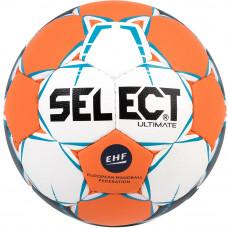 "Мяч ганд. ""SELECT Ultimate EHF"" арт. 843208-062,Junior (р.2), EHF Appr,ПУ,руч.сш, оранжев-бело-синий"
