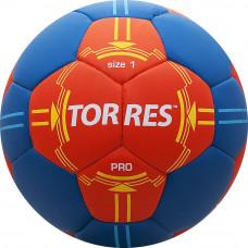 """Мяч ганд. """"TORRES PRO"""" арт.H30061, р.1, ПУ, 4 подкл. слоя, оранжево-синий"""