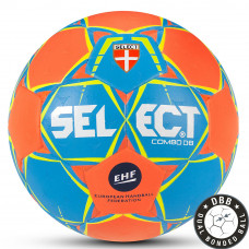 "Мяч ганд. ""SELECT COMBO DB"" арт. 801017-226, Lille (р.3), EHF Appr,ПУ, гибр.сш., оранжево-синий"
