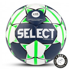 "Мяч ганд. ""SELECT FORCE DB"" арт. 844920-002, Lille (р.1), EHF Appr,ПУ, гибр.сш.,бело-салат-черн"