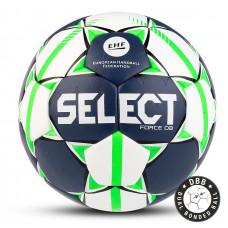 "Мяч ганд. ""SELECT FORCE DB"" арт. 844920-002, Senior (р.3), EHF Appr,ПУ, гибр.сш., бело-салат-черн"