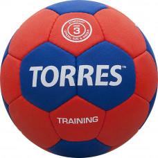 """Мяч ганд. """"TORRES Training"""" арт.H30053, р.3, ПУ, 4 подкл. слоя, красно-синий"""
