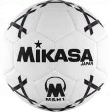 """Мяч гандб. """"MIKASA MSH 1"""", синт.кожа, р. 1, машинная сшивка, бело-черно-фиолет."""