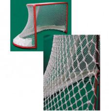 """Сетка хоккейн. """"KV.REZAC"""" арт.31965359, a:1.88 b:1.24 c:2.58 d:4.18м, нить 3 мм ПП бел."""