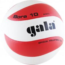 """Мяч вол. """"GALA Bora 10"""" арт. BV5671S, р. 5, синт. кожа ПУ, клееный, бут. кам, бело-красный"""