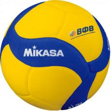 """Мяч вол. """"MIKASA V800 W"""", р.5, синт.пена ТПЕ, клеен,18 пан,бут.кам,желто-синий"""